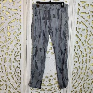 Made in Italy Gray Camouflage Drawstring Joggers
